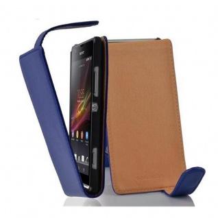 Cadorabo Hülle für Sony Xperia SP in KÖNIGS BLAU - Handyhülle im Flip Design aus strukturiertem Kunstleder - Case Cover Schutzhülle Etui Tasche Book Klapp Style
