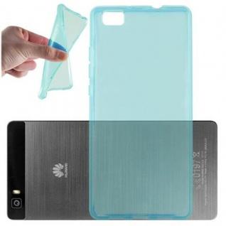 Cadorabo Hülle für Huawei P8 LITE 2015 in TRANSPARENT BLAU - Handyhülle aus flexiblem TPU Silikon - Silikonhülle Schutzhülle Ultra Slim Soft Back Cover Case Bumper