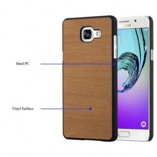 Cadorabo Hülle für Samsung Galaxy A3 2016 in WOODY BRAUN ? Hardcase Handyhülle aus Plastik gegen Kratzer und Stöße ? Schutzhülle Bumper Ultra Slim Back Case Hard Cover - Vorschau 3