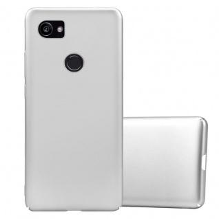 Cadorabo Hülle für Google Pixel 2 XL in METALL SILBER Hardcase Handyhülle aus Plastik gegen Kratzer und Stöße Schutzhülle Bumper Ultra Slim Back Case Hard Cover