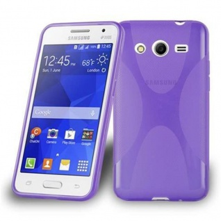 Cadorabo Hülle für Samsung Galaxy CORE 2 in FLIEDER VIOLETT - Handyhülle aus flexiblem TPU Silikon - Silikonhülle Schutzhülle Ultra Slim Soft Back Cover Case Bumper