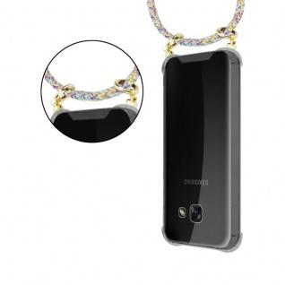 Cadorabo Handy Kette für Samsung Galaxy A3 2017 in RAINBOW - Silikon Necklace Umhänge Hülle mit Gold Ringen, Kordel Band Schnur und abnehmbarem Etui ? Schutzhülle - Vorschau 5