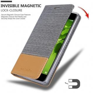 Cadorabo Hülle für Huawei NOVA 2 in HELL GRAU BRAUN - Handyhülle mit Magnetverschluss, Standfunktion und Kartenfach - Case Cover Schutzhülle Etui Tasche Book Klapp Style - Vorschau 3