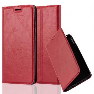 Cadorabo Hülle für Xiaomi Mi 5 in APFEL ROT Handyhülle mit Magnetverschluss, Standfunktion und Kartenfach Case Cover Schutzhülle Etui Tasche Book Klapp Style