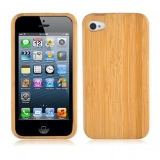 Cadorabo Hülle für Apple iPhone 5 / 5S / SE - Hülle aus BAMBUS - Handyhülle aus 100% Echtholz - Case Cover Schutzhülle Hard Case
