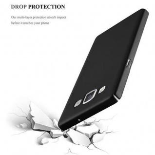Cadorabo Hülle für Samsung Galaxy A5 2015 in METALL SCHWARZ ? Hardcase Handyhülle aus Plastik gegen Kratzer und Stöße ? Schutzhülle Bumper Ultra Slim Back Case Hard Cover - Vorschau 5