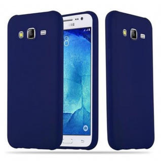 Cadorabo Hülle für Samsung Galaxy J5 2015 in CANDY DUNKEL BLAU - Handyhülle aus flexiblem TPU Silikon - Silikonhülle Schutzhülle Ultra Slim Soft Back Cover Case Bumper