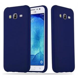 Cadorabo Hülle für Samsung Galaxy J5 2015 in CANDY DUNKEL BLAU Handyhülle aus flexiblem TPU Silikon Silikonhülle Schutzhülle Ultra Slim Soft Back Cover Case Bumper