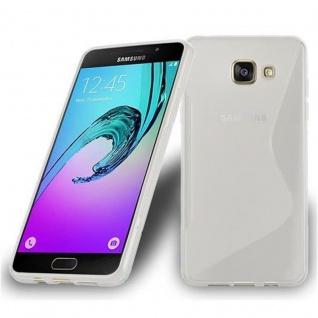 Cadorabo Hülle für Samsung Galaxy A7 2016 in HALB TRANSPARENT ? Handyhülle aus flexiblem TPU Silikon ? Silikonhülle Schutzhülle Ultra Slim Soft Back Cover Case Bumper