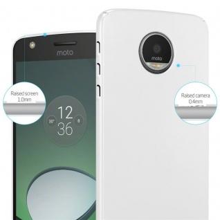 Cadorabo Hülle für Motorola MOTO Z in METALL SILBER - Hardcase Handyhülle aus Plastik gegen Kratzer und Stöße - Schutzhülle Bumper Ultra Slim Back Case Hard Cover - Vorschau 4