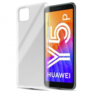 Cadorabo Hülle kompatibel mit Huawei Y5p in VOLL TRANSPARENT Handyhülle aus flexiblem TPU Silikon Silikonhülle Schutzhülle Ultra Slim Soft Back Cover Case Bumper