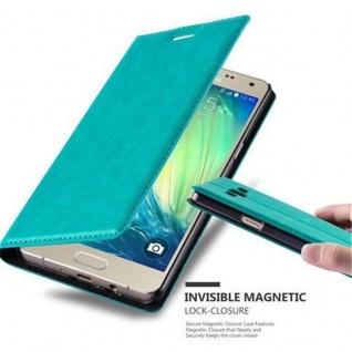 Cadorabo Hülle für Samsung Galaxy A5 2015 in PETROL TÜRKIS - Handyhülle mit Magnetverschluss, Standfunktion und Kartenfach - Case Cover Schutzhülle Etui Tasche Book Klapp Style