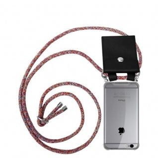 Cadorabo Handy Kette für Apple iPhone 6 PLUS / iPhone 6S PLUS in COLORFUL PARROT Silikon Necklace Umhänge Hülle mit Silber Ringen, Kordel Band Schnur und abnehmbarem Etui Schutzhülle
