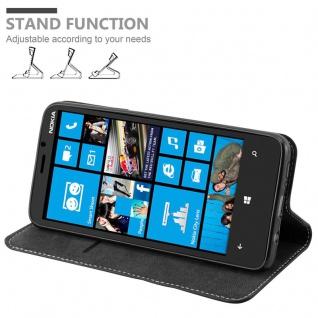 Cadorabo Hülle für Nokia Lumia 920 in SCHWARZ BRAUN ? Handyhülle mit Magnetverschluss, Standfunktion und Kartenfach ? Case Cover Schutzhülle Etui Tasche Book Klapp Style - Vorschau 2