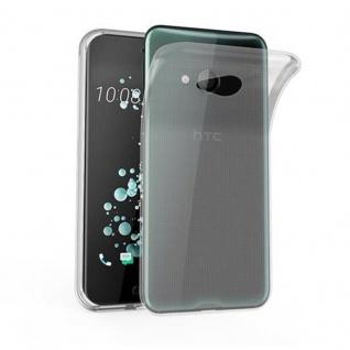 Cadorabo Hülle für HTC U PLAY in VOLL TRANSPARENT - Handyhülle aus flexiblem TPU Silikon - Silikonhülle Schutzhülle Ultra Slim Soft Back Cover Case Bumper