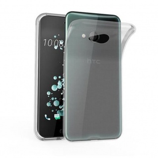 Cadorabo Hülle für HTC U PLAY in VOLL TRANSPARENT Handyhülle aus flexiblem TPU Silikon Silikonhülle Schutzhülle Ultra Slim Soft Back Cover Case Bumper