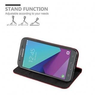 Cadorabo Hülle für Samsung Galaxy J3 2017 US Version in APFEL ROT - Handyhülle mit Magnetverschluss, Standfunktion und Kartenfach - Case Cover Schutzhülle Etui Tasche Book Klapp Style - Vorschau 5