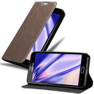 Cadorabo Hülle für Samsung Galaxy NOTE 1 in KAFFEE BRAUN - Handyhülle mit Magnetverschluss, Standfunktion und Kartenfach - Case Cover Schutzhülle Etui Tasche Book Klapp Style