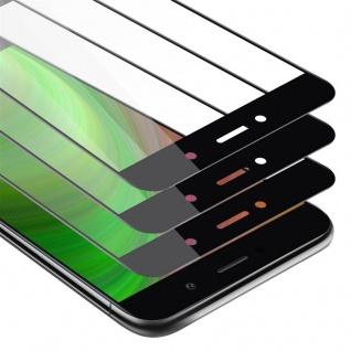 Cadorabo 3x Vollbild Panzer Folie für Huawei Enjoy 7 PLUS - Schutzfolie in TRANSPARENT mit SCHWARZ - 3er Pack Gehärtetes (Tempered) Display-Schutzglas in 9H Härte mit 3D Touch