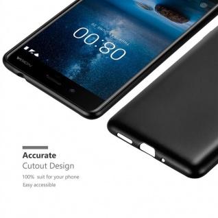 Cadorabo Hülle für Nokia 8 2017 in METALLIC SCHWARZ - Handyhülle aus flexiblem TPU Silikon - Silikonhülle Schutzhülle Ultra Slim Soft Back Cover Case Bumper - Vorschau 5