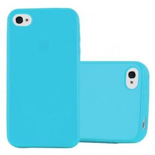 Cadorabo Hülle für Apple iPhone 4 / iPhone 4S in JELLY HELL BLAU - Handyhülle aus flexiblem TPU Silikon - Silikonhülle Schutzhülle Ultra Slim Soft Back Cover Case Bumper