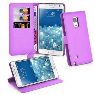 Cadorabo Hülle für Samsung Galaxy NOTE EDGE in MANGAN VIOLETT - Handyhülle mit Magnetverschluss, Standfunktion und Kartenfach - Case Cover Schutzhülle Etui Tasche Book Klapp Style