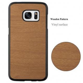 Cadorabo Hülle für Samsung Galaxy S7 in WOODY BRAUN ? Hardcase Handyhülle aus Plastik gegen Kratzer und Stöße ? Schutzhülle Bumper Ultra Slim Back Case Hard Cover - Vorschau 2