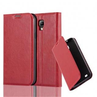 Cadorabo Hülle für Samsung Galaxy S4 ACTIVE in APFEL ROT - Handyhülle mit Magnetverschluss, Standfunktion und Kartenfach - Case Cover Schutzhülle Etui Tasche Book Klapp Style