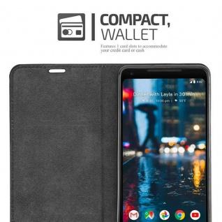 Cadorabo Hülle für Google Pixel 2 XL in KAFFEE BRAUN - Handyhülle mit Magnetverschluss, Standfunktion und Kartenfach - Case Cover Schutzhülle Etui Tasche Book Klapp Style - Vorschau 5