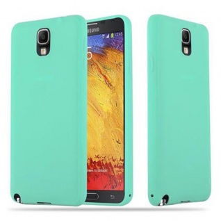 Cadorabo Hülle für Samsung Galaxy NOTE 3 in CANDY BLAU - Handyhülle aus flexiblem TPU Silikon - Silikonhülle Schutzhülle Ultra Slim Soft Back Cover Case Bumper