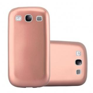 Cadorabo Hülle für Samsung Galaxy S3 / S3 NEO in METALLIC ROSE GOLD - Handyhülle aus flexiblem TPU Silikon - Silikonhülle Schutzhülle Ultra Slim Soft Back Cover Case Bumper