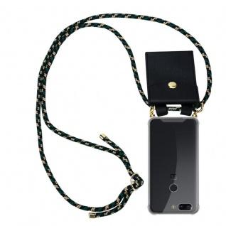 Cadorabo Handy Kette für OnePlus 5T in CAMOUFLAGE Silikon Necklace Umhänge Hülle mit Gold Ringen, Kordel Band Schnur und abnehmbarem Etui Schutzhülle