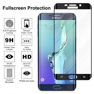 Cadorabo Vollbild Panzer Folie für Samsung Galaxy S6 EDGE - Schutzfolie in TRANSPARENT mit SCHWARZ - Gehärtetes (Tempered) Display-Schutzglas in 9H Härte mit 3D Touch Kompatibilität - Vorschau 4