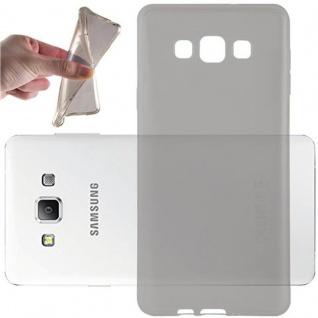 Cadorabo Hülle für Samsung Galaxy A7 2015 in TRANSPARENT SCHWARZ - Handyhülle aus flexiblem TPU Silikon - Silikonhülle Schutzhülle Ultra Slim Soft Back Cover Case Bumper