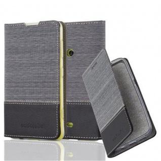 Cadorabo Hülle für Nokia Lumia 625 in GRAU SCHWARZ - Handyhülle mit Magnetverschluss, Standfunktion und Kartenfach - Case Cover Schutzhülle Etui Tasche Book Klapp Style