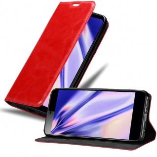 Cadorabo Hülle für Sony Xperia L3 in APFEL ROT Handyhülle mit Magnetverschluss, Standfunktion und Kartenfach Case Cover Schutzhülle Etui Tasche Book Klapp Style
