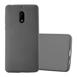 Cadorabo Hülle für Nokia 6 2017 in METALLIC GRAU - Handyhülle aus flexiblem TPU Silikon - Silikonhülle Schutzhülle Ultra Slim Soft Back Cover Case Bumper