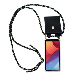 Cadorabo Handy Kette für LG G6 in CAMOUFLAGE ? Silikon Necklace Umhänge Hülle mit Gold Ringen, Kordel Band Schnur und abnehmbarem Etui ? Schutzhülle