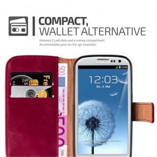 Cadorabo Hülle für Samsung Galaxy S3 / S3 NEO in WEIN ROT ? Handyhülle mit Magnetverschluss, Standfunktion und Kartenfach ? Case Cover Schutzhülle Etui Tasche Book Klapp Style - Vorschau 3