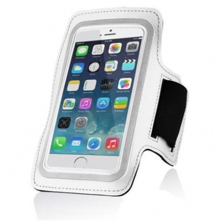 """"""" Cadorabo ? Neopren Smartphone Sport Armband Fitnessstudio Jogging Armband Oberarmtasche kompatibel mit 4, 5 ? 5, 0"""" Zoll Handys wie z, B, Apple iPhone 6 / 6S, 8 / 7 / 7S, Samsung Galaxy A3, HTC ONE A9 usw, mit Schlüsselfach und Kopfhöreranschl - Vorschau 3"""