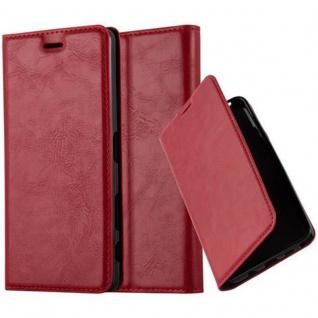 Cadorabo Hülle für Sony Xperia X in APFEL ROT Handyhülle mit Magnetverschluss, Standfunktion und Kartenfach Case Cover Schutzhülle Etui Tasche Book Klapp Style