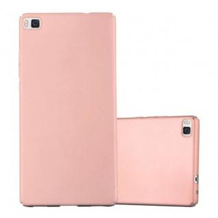 Cadorabo Hülle für Huawei P8 in METALL ROSE GOLD - Hardcase Handyhülle aus Plastik gegen Kratzer und Stöße - Schutzhülle Bumper Ultra Slim Back Case Hard Cover