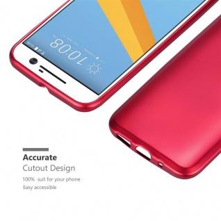 Cadorabo Hülle für HTC 10 (One M10) in METALLIC ROT - Handyhülle aus flexiblem TPU Silikon - Silikonhülle Schutzhülle Ultra Slim Soft Back Cover Case Bumper - Vorschau 5