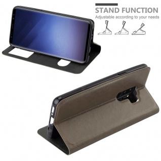 Cadorabo Hülle für Samsung Galaxy S9 PLUS in STEIN BRAUN ? Handyhülle mit Magnetverschluss, Standfunktion und 2 Sichtfenstern ? Case Cover Schutzhülle Etui Tasche Book Klapp Style - Vorschau 4
