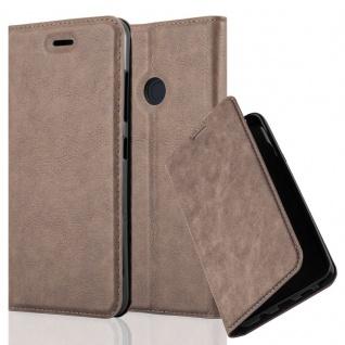 Cadorabo Hülle für HTC Desire 10 PRO in KAFFEE BRAUN - Handyhülle mit Magnetverschluss, Standfunktion und Kartenfach - Case Cover Schutzhülle Etui Tasche Book Klapp Style