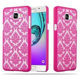 Samsung Galaxy A5 2016 Hardcase Hülle in PINK von Cadorabo - Blumen Paisley Henna Design Schutzhülle ? Handyhülle Bumper Back Case Cover