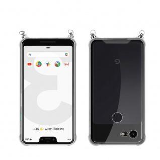 Silikon Hülle Handykette für Google Pixel 3 XL mit goldenen Ringen in DURCHSICHTIG