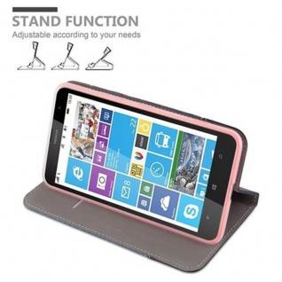 Cadorabo Hülle für Nokia Lumia 1320 in DUNKEL BLAU SCHWARZ - Handyhülle mit Magnetverschluss, Standfunktion und Kartenfach - Case Cover Schutzhülle Etui Tasche Book Klapp Style - Vorschau 4