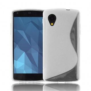 Cadorabo ! PREMIUM - Silikon TPU Schutzhülle im S-Line Design für LG NEXUS 5 in HALB-TRANSPARENT