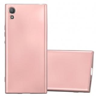 Cadorabo Hülle für Sony Xperia XA1 in METALLIC ROSÉ GOLD - Handyhülle aus flexiblem TPU Silikon - Silikonhülle Schutzhülle Ultra Slim Soft Back Cover Case Bumper